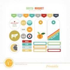 Free Printable South of Market Elements, Labels and Tags at @Studio_Calico {store checkout required}