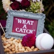 This website has a lot of cute baseball wedding themed ideas, this is what my fiance and I are going for. carins