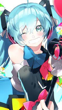 720x1280 wallpaper Hatsune miku, wink, vocaloid, anime girl