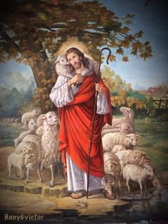 Christ The Good Shepherd, Lord Is My Shepherd, Pictures Of Jesus Christ, Religious Pictures, Christian Artwork, Christian Images, Jesus Mother, Blessed Mother, Catholic Art