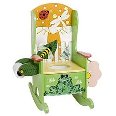 Rocking potty chair - and is this WOOD?