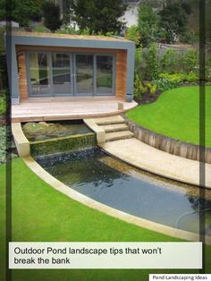 >How Can I Install A Care Free Yard Pond - Pond landscaping ideas< Patio Pond, Pond Landscaping, Ponds Backyard, Landscaping With Rocks, Backyard Ideas, Low Maintenance Yard, Outdoor Ponds, Building A Pond, Natural Pond