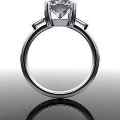 Forever Brilliant Moissanite Engagement Ring Radiant Cut 3.25 CTW