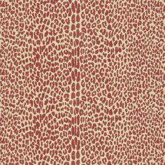 Lee Jofa OCICAT CLARET Fabric