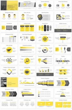yearly business review presentation template (ppt icons and tables, Presentation templates