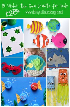 15 Under the Sea Crafts for Kids | www.daisycottagedesigns.net