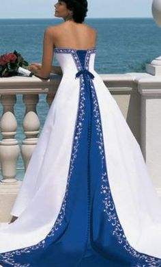 Blue Alfred Angelo Wedding Dress for Sale