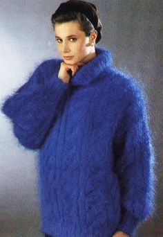 Thick Sweaters, Wool Sweaters, Gros Pull Mohair, Angora, Knitwear Fashion, Mohair Sweater, Beauty Women, Plus Size Fashion, Knitting Patterns