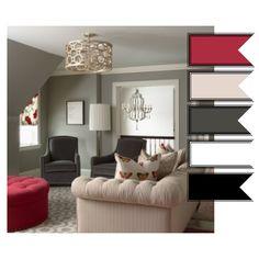 grey, red room. Classy OSU room!