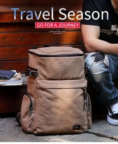 30f220db02 Vintage Large Capacity Canvas Travel Backpack - The Bold Outsider Canvas  Travel Bag