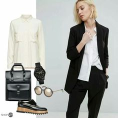 classy black and white look.