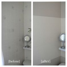 Before And After   Painting Tile Board Panel