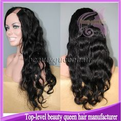 Find More Wigs Information about Queen hair Body Wave U part wig brazilian virgin glueless lace U part human hair wigs on right part natural color free shiping,High Quality Wigs from Top-level beauty queen hair manufacturer on Aliexpress.com