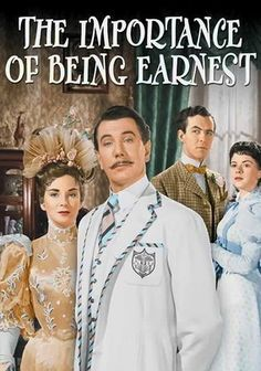 The Importance of Being Earnest (1952) A delightful, charming story of words and misunderstandings. Two men who escape social obligations by pretending to be someone they're not, often when its most inconvenient for the other. Michael Redgrave, Richard Wattis, Michael Denison...TS classic