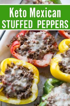 This Keto M Stuffed Peppers recipe is sure to become a family favorite in your home! It's simple, delicious, and keto-friendly. #keto #lowcarb Keto Taco Seasoning, Homemade Taco Seasoning, Homemade Tacos, Mexican Stuffed Peppers, Keto Stuffed Peppers, Sprouts Salad, Brussel Sprout Salad, Asparagus Soup, Asparagus Recipe