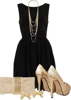 """Dress It Up"" by qtpiekelso on Polyvore. I think this would be pretty for a nice New Years party dress"