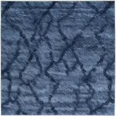 Safavieh Retro Modern Abstract Blue/ Dark Blue Rug (6' x 6' Square)