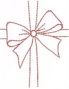 Christmas Gift Bow Ribbon Paper Embroidery Pattern for by Darse, $1.50