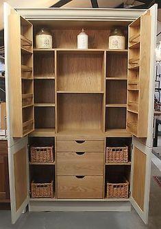 Hand Made Painted Bespoke Kitchen Larder Cupboard Unit