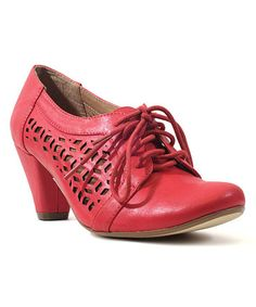 Maybe Rosie the Riveter dreamed of these....? Loving this Red Cutout Rosie Pump on #zulily! #zulilyfinds