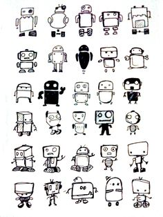Draft robot sketches for a client. I was running out of ideas. Sorry.