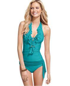 Cute swimsuit. Love the ruffles