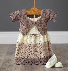 beautiful crochet beige girly dress