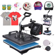9aab834f Mophorn Heat Press 5 in 1 Multifunction Sublimation Heat Press Machine  Desktop Iron Baseball Hat Press