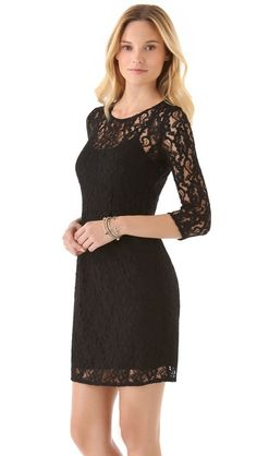 Black lace dress. I have one similar, just not see through-ish.