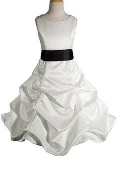 AMJ Dresses Inc Ivory/black Flower Girl Wedding « Dress Adds Everyday