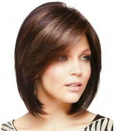 55 Beautiful and Convenient Medium Bob Hairstyles - Hairstyles Trends Medium Bob Hairstyles, Wig Hairstyles, Straight Hairstyles, Medium Hair Styles, Short Hair Styles, Layered Hair, Short Hair Cuts, Hair Lengths, Hair Trends