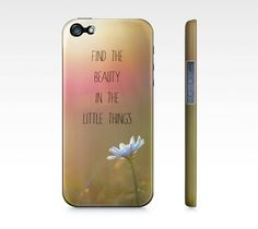 Quote iPhone Case OR Samsung Galaxy 3 Case, Custom Text, Blue Flower, Sunset, Motivational Quote Case for iPhone 4/4S/5 OR Samsung Galaxy 3
