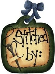 imagem decoupage clipart  Tag Stitched By