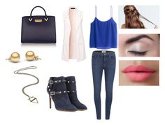 """""""Going Out 77"""" by miks15 on Polyvore featuring Paige Denim, New Look, H&M, Valentino, LORAC and ZAC Zac Posen"""