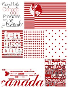 FREE Project Life Fridays: Canada Day Printables