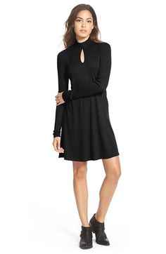 RVCA 'Into First' Ribbed Long Sleeve Shift Dress available at #Nordstrom
