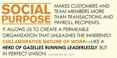 Unleash the inherently collaborative nature of work -- like a herd of Gazelles running leaderlessly, but in perfect unison.
