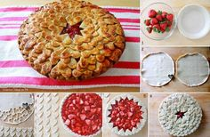 Layered Hearts Pie Crust Topping-yum.