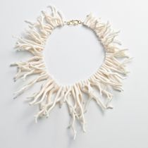 White Coral necklace for summer parties