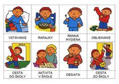 hodiny a priradovanie cinnosti dna Sequencing Pictures, Kindergarten, Corporate Portrait, Busy Bags, Preschool Worksheets, Fine Motor Skills, Dna, Montessori, Routine