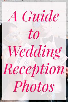 6 tips to taking the best wedding reception photos!