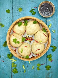 Vegan Dim Sum Buns - Soft steamed buns stuffed with Asian-style mushrooms and hoisin sauce.. Mmmm Read more at http://www.jamieoliver.com/recipes/vegetables-recipes/vegan-dim-sum-buns/#iz9qrzbHXVF74Hip.99