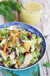 Orange Sesame Asian Chicken Salad | Our Best Bites Intro. Includes delicious recipe for Orange Sesame Dressing - make it extra easy with a rotisserie chicken!