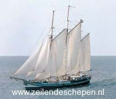 Threemast Clipper 'Grootvorst' under sail. Dutch Barge, Tall Ships, Sailing Ships, Boats, Nautical, Sea, Spaces, Lush, Navy Marine