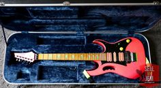 Only at www.sellmyjem.com Uber rare! An example of the very first batch of 1987 777SK with all original hardware is right here! know what your looking at right here and this is one of those moments you may drool onto the keyboard (if your an SK shocking pink fan that is!) A completely original first year production model Shocking Pink 777SK Jem and its just been made available for sale but i can guarantee you it won't last long. This is one chance you ...