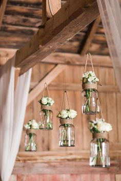 This rustic barn wedding nails county decor! We're loving how the decor incl… This rustic barn wedding nails county decor! We're loving how the decor included Mason jar flower holders and repurposed suitcases. Wedding Centerpieces, Wedding Decorations, Table Decorations, Hanging Decorations, Hanging Lanterns, Centerpiece Ideas, Table Centerpieces, Wedding Guest Book, Diy Wedding