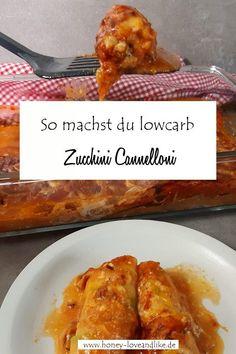 So machst du Zucchini Cannelloni  #ZucchiniCannelloni #Zucchini #Cannelloni #ketonudeln #lowcarbnudeln Potatoe Dinner Recipes, Easy Potato Recipes, Easy Baking Recipes, Quick Recipes, Easy Healthy Recipes, Easy Dinner Recipes, Easy Summer Meals, Summer Recipes, Low Carb Vegetarian Recipes