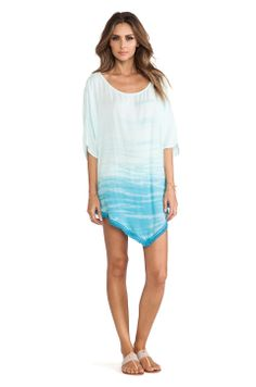 Gypsy 05 Cover Up Poncho in Turquoise