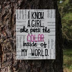 """11x14 """"Daughters"""" - John Mayer sheet music canvas art"""