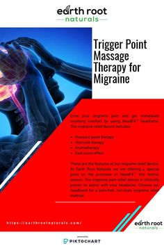 Trigger Point Massage Therapy for Migraine Migraine Pain, Migraine Relief, Pain Relief, Trigger Point Massage, Trigger Points, Massage Therapy, Aromatherapy, Massage